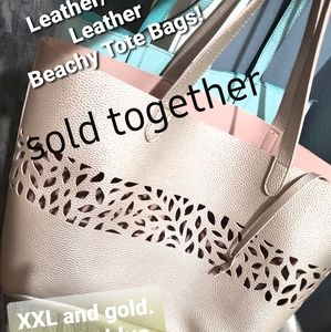 Bundle of 2 Like New Oversized Tote bags Work Bags